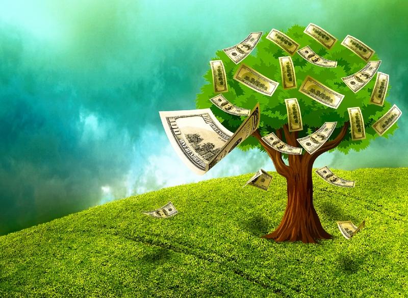 arbre de l'argent de succès de manifestation