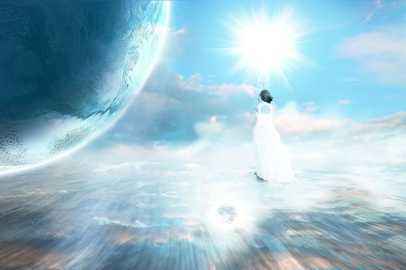 énergie de source de canal spirituel